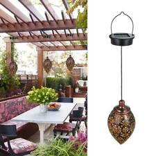 Outdoor Solar Garden Lamp Lantern Hanging Light LED Waterproof Yard Patio Lamp