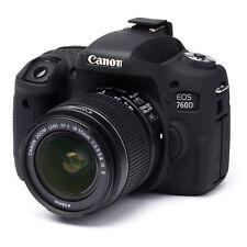 easyCover Canon 760D T6s EA-ECC760DB Camera Protective Case Black Silicone