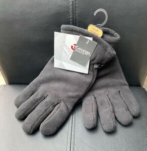 Gloves Thinsulate Small/medium Black George BNWT <MM1435