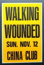 WALKING WOUNDED Original Promo Concert Poster 1989 Eddie Muñoz Plimsouls Plugz