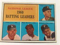 1961 Topps #41 1960 NL Batting Leaders - Mays, Clemente, Larker, Groat