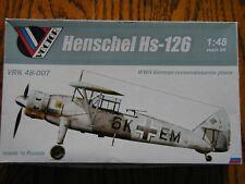 1/48 Vector HENSCHEL Hs 126 Super-detailed Resin kit better than ICM/Italeri OOP