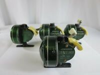 Estate Lot of 4 Johnson Century USA 100B Green Fishing Reels