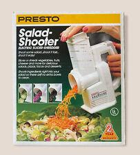 NEW In Box Presto 02910 Salad Shooter Electric Food Slicer Shredder Vintage