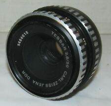 Vintage Tessar f2.8/50mm Carl Zeiss Jena M42 Threaded Screw Mount LQQK!