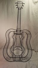 Guitar Shaped CD/DVD Black Metal Wire Holder Rack w/ Floor Stand 54 SLots