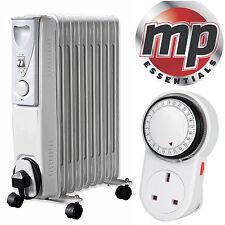 DAEWOO 2000w Bianco Portatile riempita di olio radiatore riscaldatore con termostato e timer