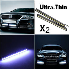 2xUltra-Slim Car LED Fog Signal Light Daytime Running Lamp Strip DRL Waterproof
