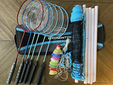 Halex Deluxe Badminton Set - with SIX(6) Rackets, Carrying Bag & More!