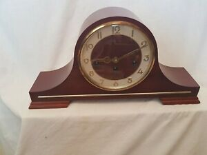 Vintage Franz Hermle Mantle Clock 340-020, Westminster Chime, Working & chimes