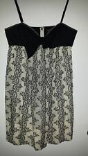 BCBGMAXAZRIA Two Tone 100% Cotton Dress Size 12 New