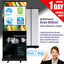 Pull up banner / Roll up Banner (Black Stand) 850mm x 2000mm
