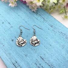 Frog Earrings Frog & Lily Pad, Animal Earrings, Animal Jewellery, Charm Earrings