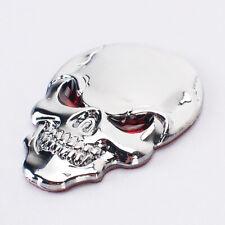 1x Metal 3D Skull Bone Auto Car Decor Badge Decal Sticker Car Auto Accessory