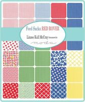 """Moda Feed Sacks Red Rover 5"""" Charm Pack Fabric Quilting Squares 23310PP SQ39"""