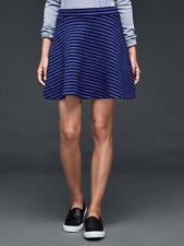 Above Knee Cotton Blend Regular Striped Skirts for Women