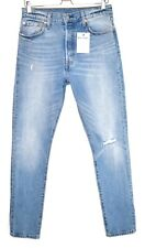 Womens Levis 501 SKINNY High Rise Blue Relaxed Ripped Jeans Size 12 W30 L28