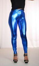 PUSSYRIOT Metallic Shiny Contour Cameltoe Leggings HL2AX Blau - Größe S