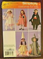 Simplicity Pattern 0545/2571 Toddlers' Costumes Witch, Vampire Size ½ - 4 - New