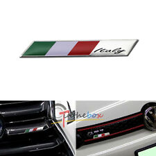Aluminum Plate Italy Flag Emblem Badge For Car Front Grille Side Fender Trunk