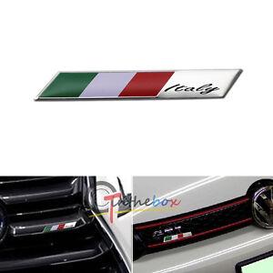 Aluminum Plate Italy Flag Emblem Badge For Car Front Grille Side Fender Trunk