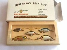 Samba Wood Fishing Tackle Gift Box,5 Hand Painted Ugly Duckling balsa lures