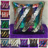 "Sparkle 16"" Magic Throw Pillow Case Reversible Mermaid Sequin Sofa Cushion Cover"