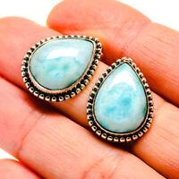 "Larimar 925 Sterling Silver Earrings 3/4"" Ana Co Jewelry E411617F"