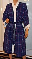 Christian Dior Monsieur Men's Robe One Size Blue Background 100% Cotton Red/ Wh