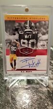 T.J. WATT 2019 PANINI PLATES & PATCHES RED AUTOGRAPH 08/10 AUTO STEELERS