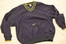 Vintage Nike Pull Over Windbreaker 90s Air Large White Tag Navy And Yellow