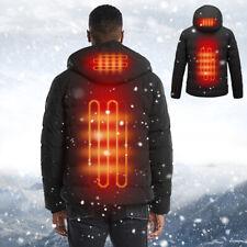 Mens Electric Battery Heating USB Outdoor Thermal Hoodie Jacket Warmer Winter
