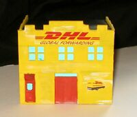HO Scale building: DHL Freight Office - WEATHERED
