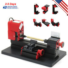 6in1 Mini Wood Metal Motorized Lathe Machine Woodworking Hobby DIY Tool US SHIP