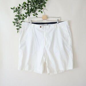 Peter Millar Men's Pima Cotton Flat Front Shorts Size 42 White