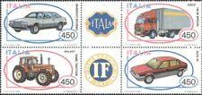 Italy 1984 Alfa Romeo/Maserati/Cars/Tractor/Truck/Transport 4v set blk (b8319a)