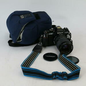 Nikon F-301 Camera With Tamron Macro 28mm-50mm Lens & Case