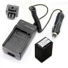 7.2v Battery+Charger For SONY HDR-XR160 HDR-XR260 HDR-XR350 HDR-XR550 HDR-PJ590