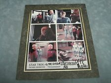 Authentic Star Trek *Jeff Rector As The Allegiance Signed Matted 8X10 Photo*