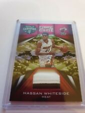 2016-17 Totally Certified Fabric of the Game Hassan Whiteside Patch Card #ed/25
