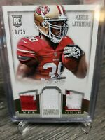 2013 Marcus Lattimore National Treasures NFL Gear Triple Patch Relic RC 02/25