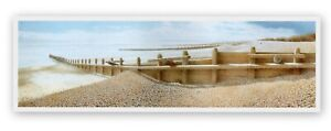 GORING BY SEA W SUSSEX CHARMING SEASCAPE BEACH SCENE MOUNTED PRINT NOT FRAMED