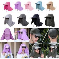 Summer Outdoor UPF 50+ Sun Baseball Hat Removable Neck & Face Flap Cover Cap