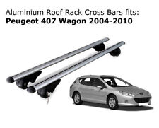 Aluminium Roof Rack Cross Bars fits Peugeot 407 Wagon 2004-2010