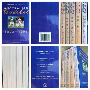 The Complete History of Australian Cricket 1803-1995 5 Book Box Set Lovely Cond.