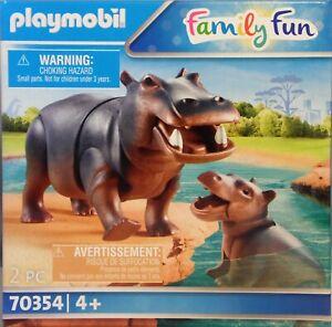 PLAYMOBIL  70354 Flußpferd Nilpferd mit Baby für Zoo Tierpark Safari NEU