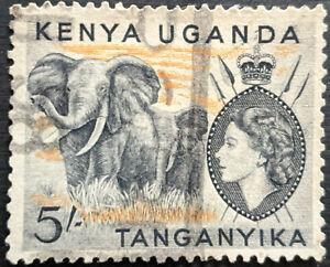 Stamp Kenya,Uganda,Tanganyika SG178 1954 5Sh African Elephant Used