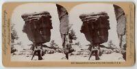 Photographer & Camera Balanced Rock Colorado Springs Vintage Stereoview Photo