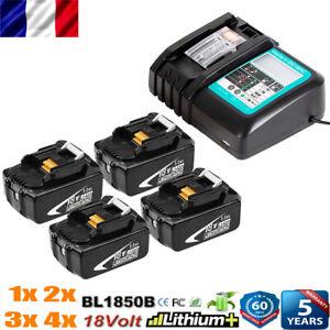 BL1850B pour Makita Batterie 18V 5Ah BL1860 BL1840 BL1890 Rapide DC18RC Chargeur