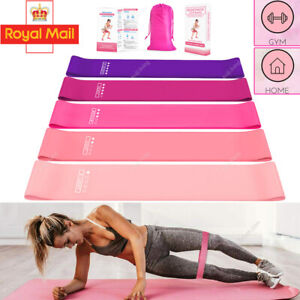 Resistance Band Loop Gym Home Excercise Training Fitness Yoga Latex Set/Single